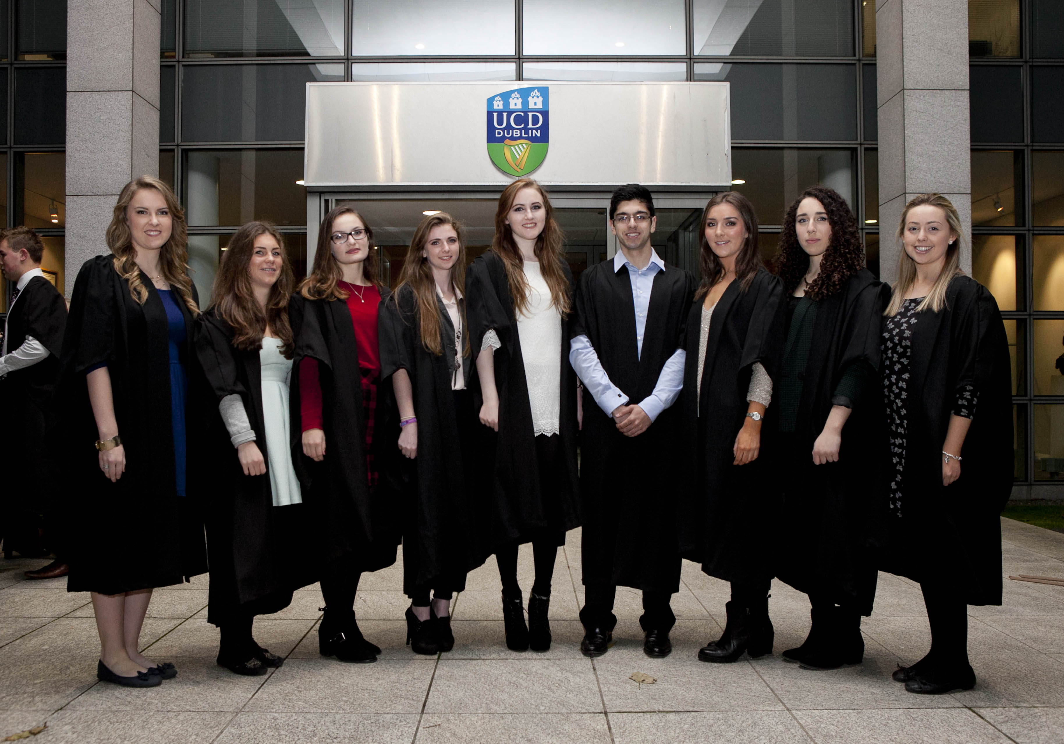 Some of the 19 Institute of Education students who were recognized as UCD Entrance Scholars in November 2013
