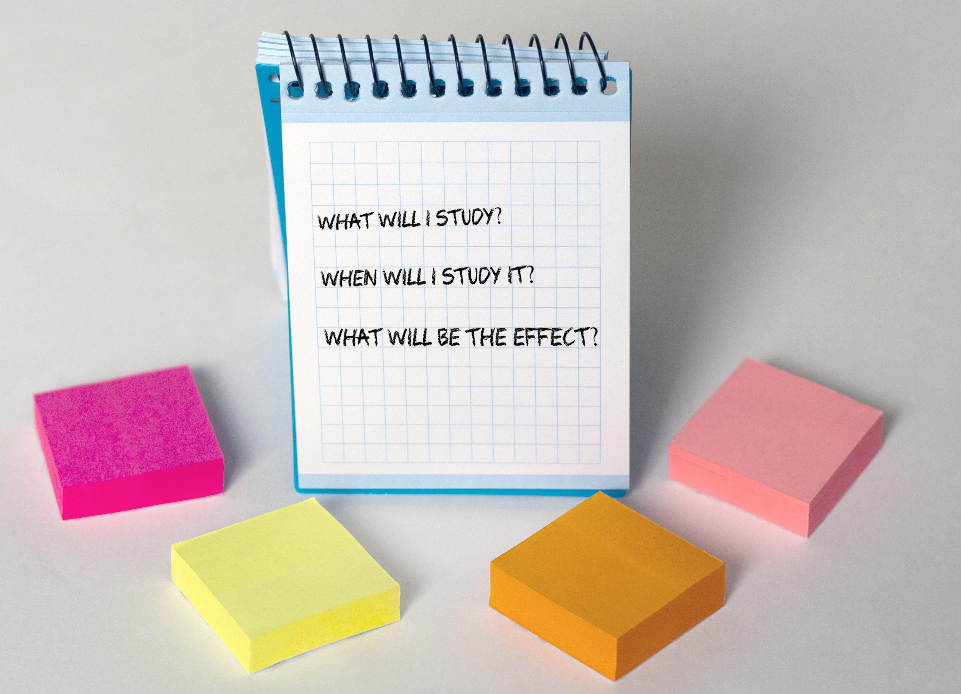 3 Main Study Skills Questions