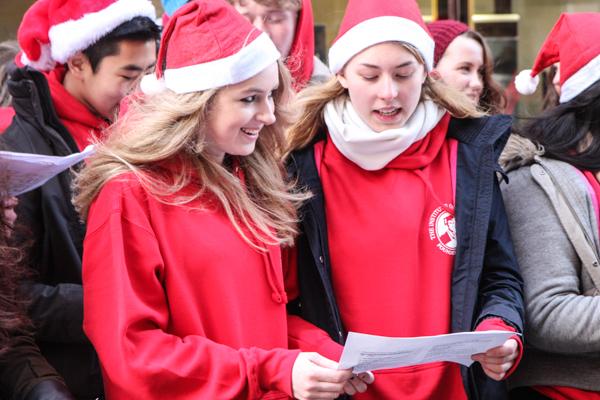 Christmas carolling 2014