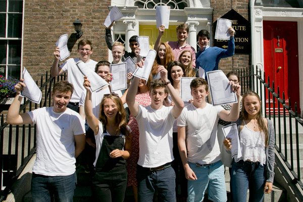Some of our happy students who achieved 6 A's or more in the Leaving Cert 2015.