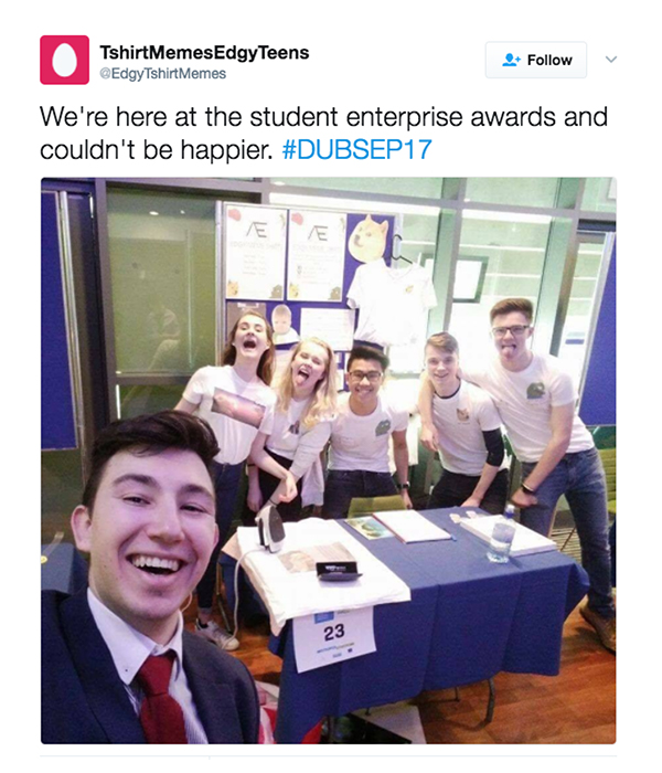 Student Enterprise Awards team members