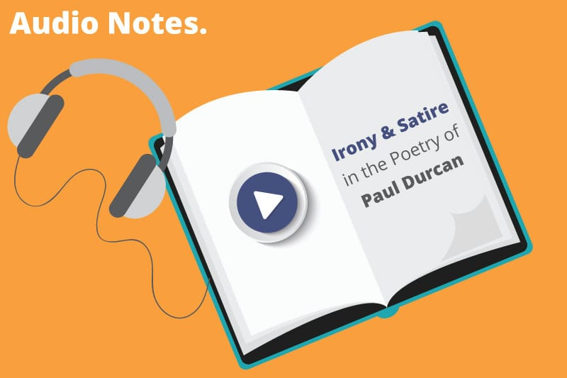 Audio Notes Irony Satire In Paul Durcans Poetry