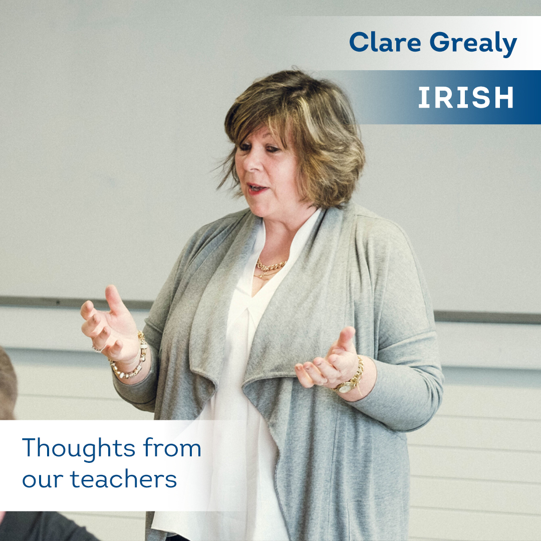 Thoughts from our teachers - clare grealy